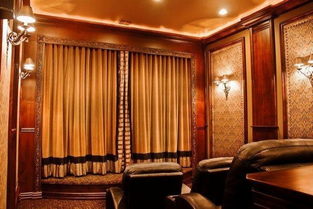 Home Theater By Puerta Bella Interior Design Traditional Home Theater P