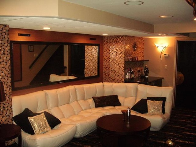 Home Theater - Eclectic - Home Theater - boston - by CHIC Redesign