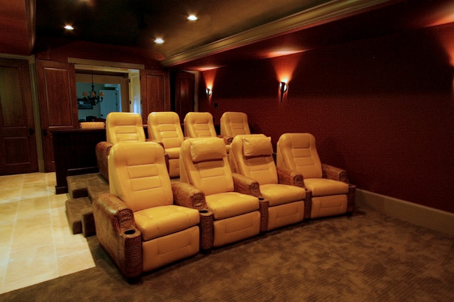 Home theater custom seating traditional home theater for Home theater furniture atlanta