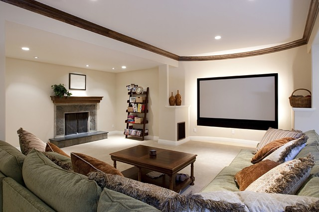 home theater design ideas by dreamedia traditional home theater - Home Theatre Design Ideas