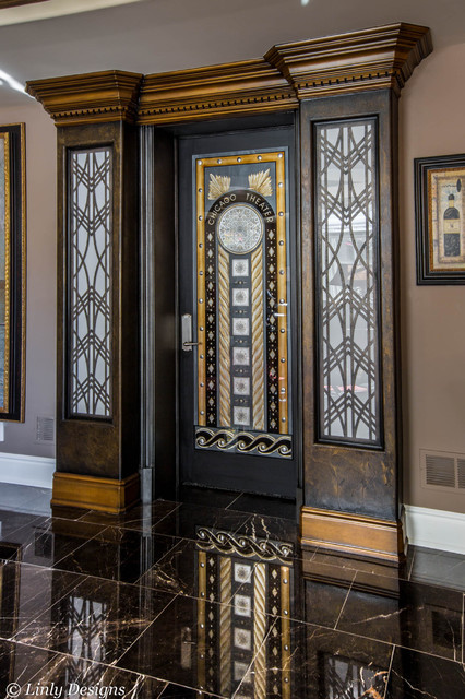 Home Theater Door - Eclectic - Home Theater - Chicago - by Linly Designs