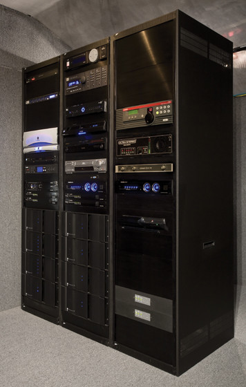 Home Theater Equipment Rack - Modern - Home Theater - cleveland - by Man Caves Audio Video