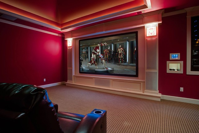Example Of A Clic Home Theater Design In Little Rock