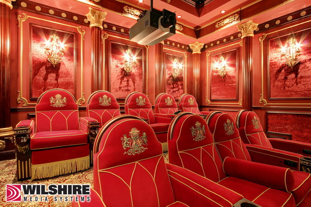 Home Theater: Hidden Valley traditional-home-theater