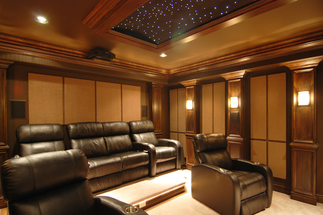 traditional-home-theater Traditional Home Theater Design Ideas on traditional family room design ideas, traditional home library design ideas, traditional home office design ideas,