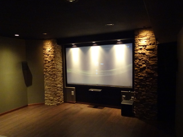 Home Theater Contemporary Home Theater Milwaukee