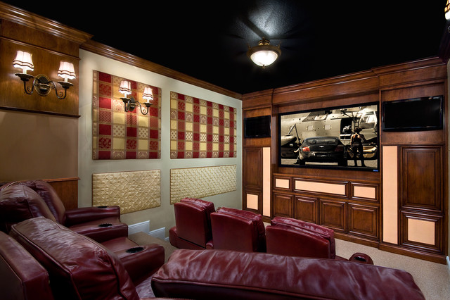 Home Theater in Frenchmen's Reserve, Palm Beach Gardens, FL (LS Interiors Group) traditional-home-theater