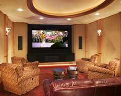 Home Theater rustic-home-theater