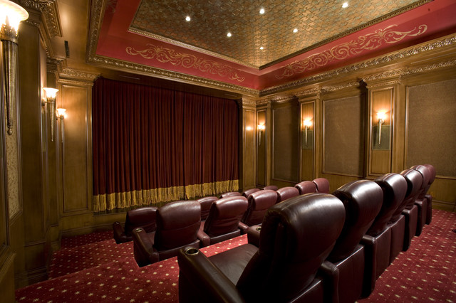 Home Theater Traditional Home Theater Las Vegas By