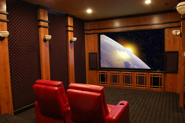 Home Theater Eclectic Home Theater