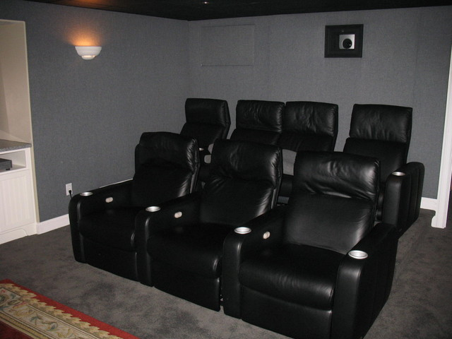 Home theater seating for small room home theater design for Home theater seating design ideas
