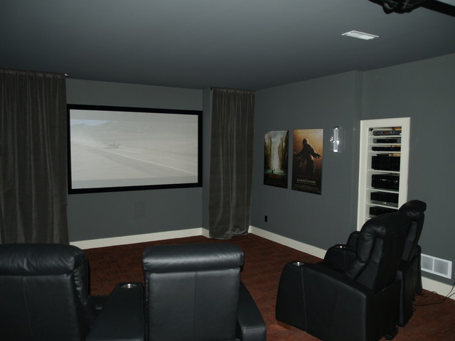 Home Theater: Projector & Open Rack System - Traditional - Home ...