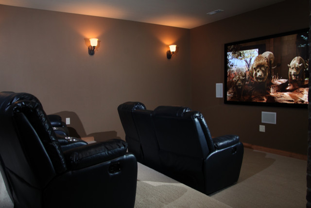 Home Theater Room - Traditional - Home Theater - other ...