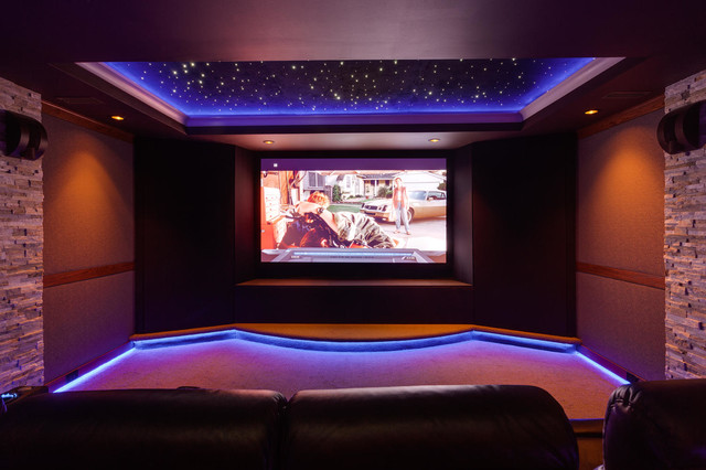 Home theater room night sky for Modern theater room