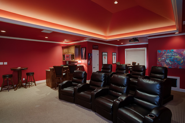 Home theater seating traditional home theater little rock by