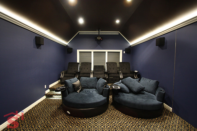 Home Theater Traditional Home Theater New York By