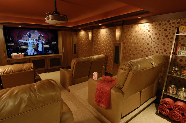 Home Theater Traditional Home Theater Raleigh By