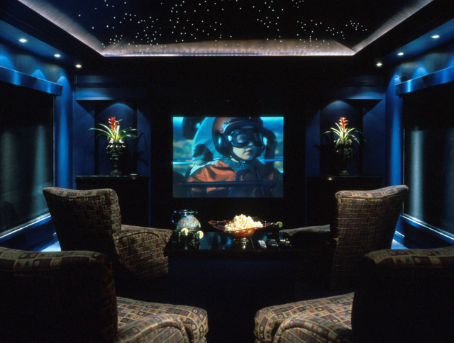 Home theater modern home theater orlando by the evans group Modern home theater design ideas