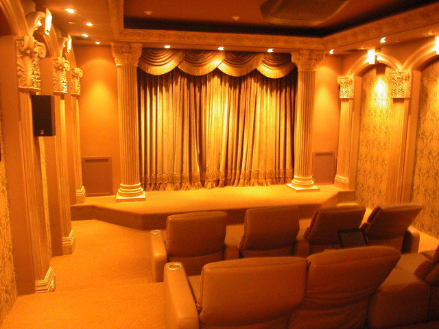 Home Theaters of The French Tradition traditional-home-theater