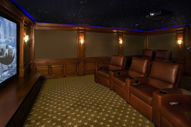 Home Theater Under the Stars traditional-home-theater