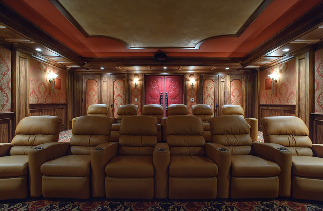 Home Theater Upholstered Fabric Walls Doors