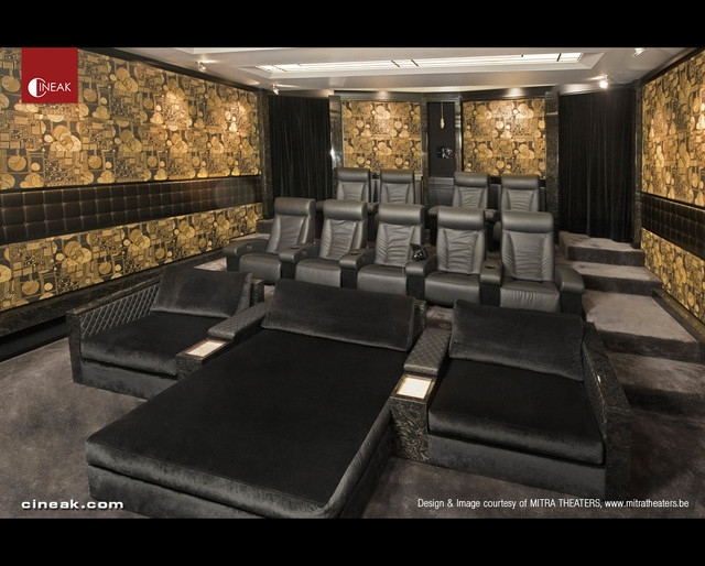 Home Theater with Fortuny and Intimo Seats - contemporary - media