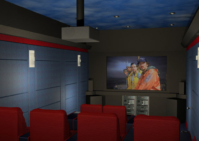 Home Theaters contemporary-home-theater