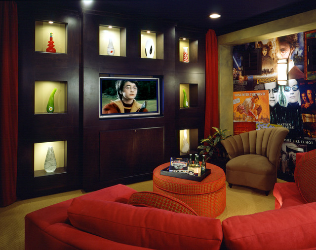 Home Theatre contemporary media room