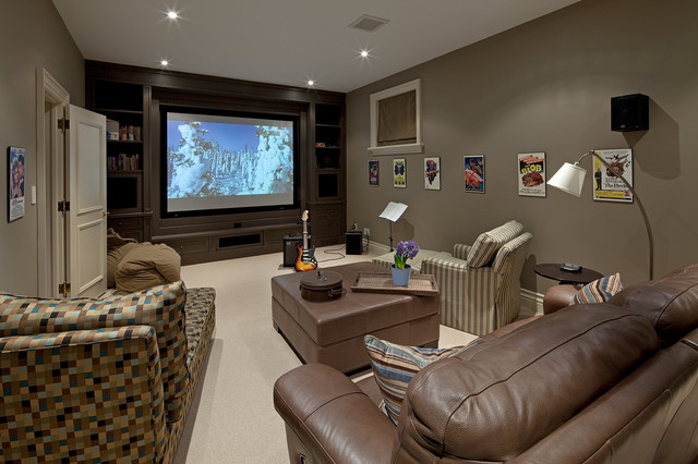 House 6 - traditional - home theater - toronto - by Peter A ...