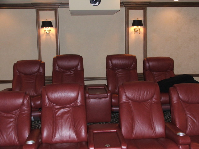 Hunter Media Room traditional-home-theater
