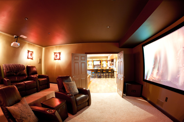In Home Movie Theaters Modern Home Theater Other