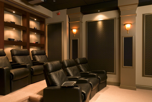 In home movie theaters contemporary home theater Home theater colors