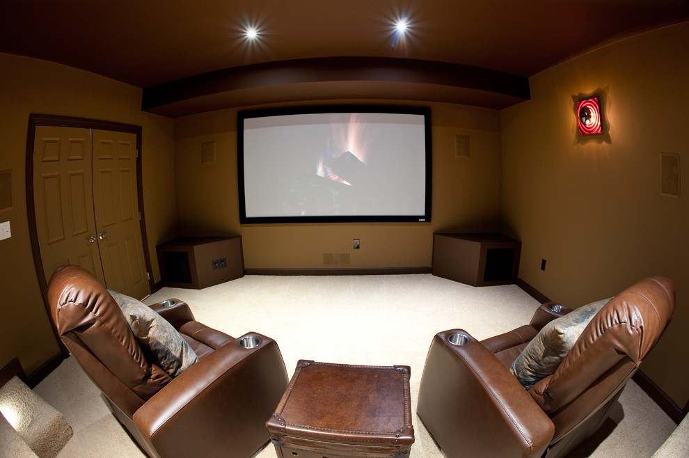 In Home Movie Theaters Modern Home Theater Dc Metro By Wi Home Integration