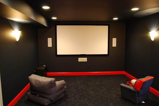 InHome Movie Theaters Contemporary Home Theater DC Metro - Home movie room