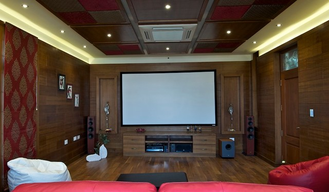 Independent Bunglow - Indian - Home Theater - Bengaluru - by Design Spot