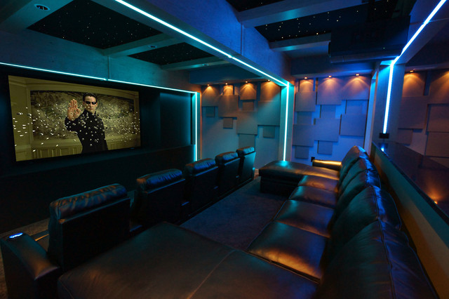 home theater led lighting. led lighting for home theatre · inspired by the matrix transitional theater h