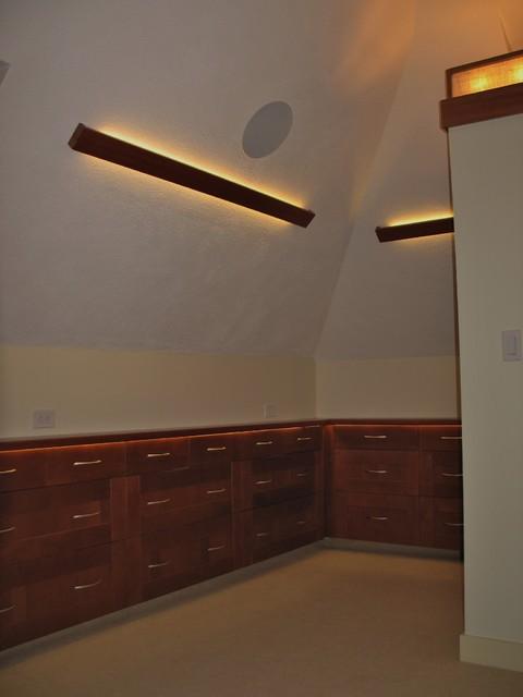 Inspired Led Accent Lighting Contemporary Home Theater