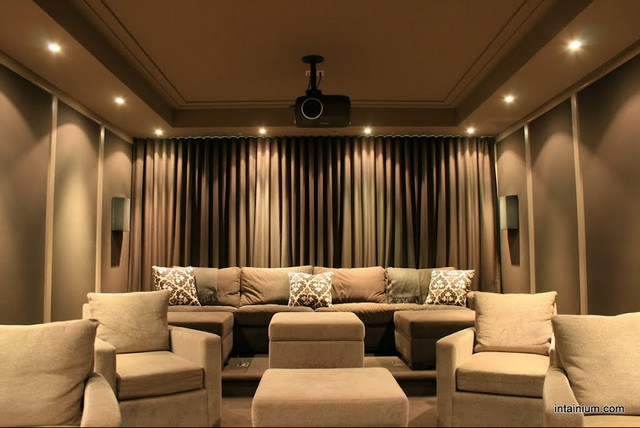 media room by Intainium Home Cinemas