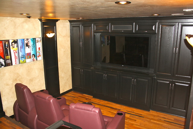Ivarie Theater and Wine Cellar traditional-home-theater