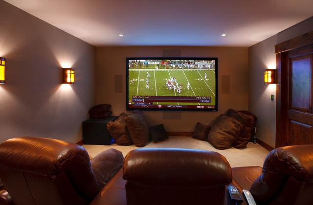 Jackson Hole Golf & Tennis rustic-home-theater