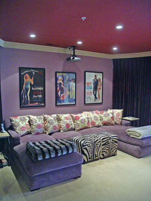 Jessica Hall Associates contemporary media room