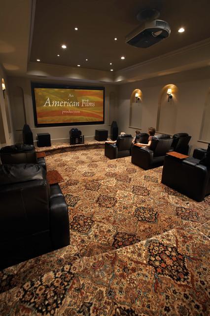 Karastan Movie Theatre Carpettraditional Home Theater Boston