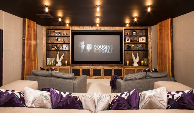 Kardashian Odom Home Theater Eclectic Home Theater