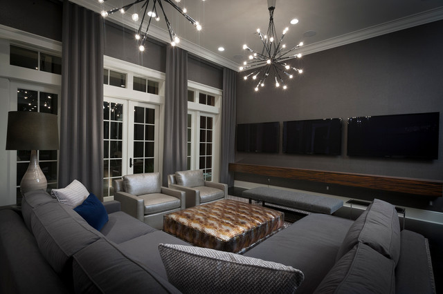Kenneth Brown Design HGTV Florida - contemporary - media room
