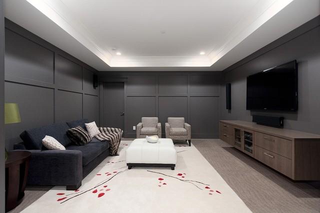 Kitsilano Residence contemporary-home-theater