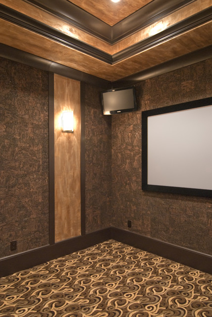 Lake Norman Project eclectic-home-theater