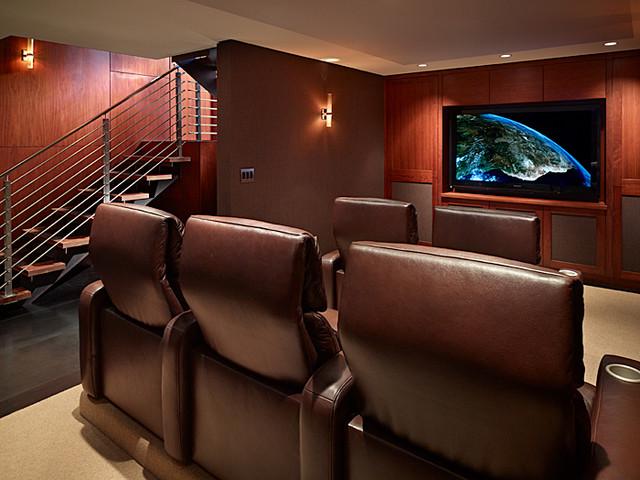 Lakefront Splendor contemporary-home-theater