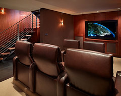 Lakefront Splendor contemporary-home-theater