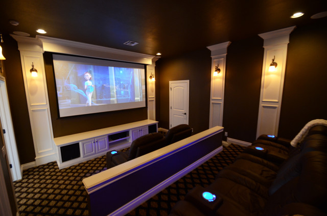 Lakeside Estate traditional-home-theater