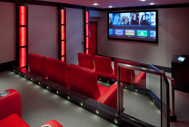 Laurel Woods Home Theater - Contemporary - Home Theater - Boston - by LDa Architecture & Interiors